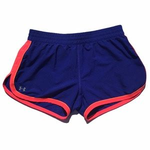 Under Armour Heat Gear Semi Fitted Blue Shorts